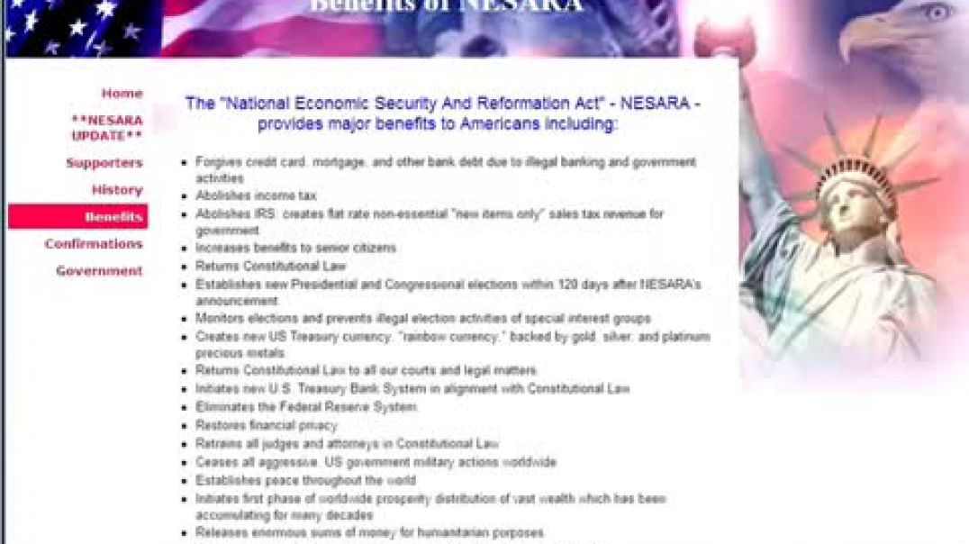 National Economic Security and Recovery Act (NESARA)