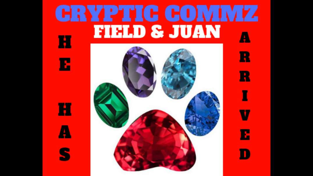 CRYPTIC COMMZ: FIELD AND JUAN - HE HAS ARRIVED