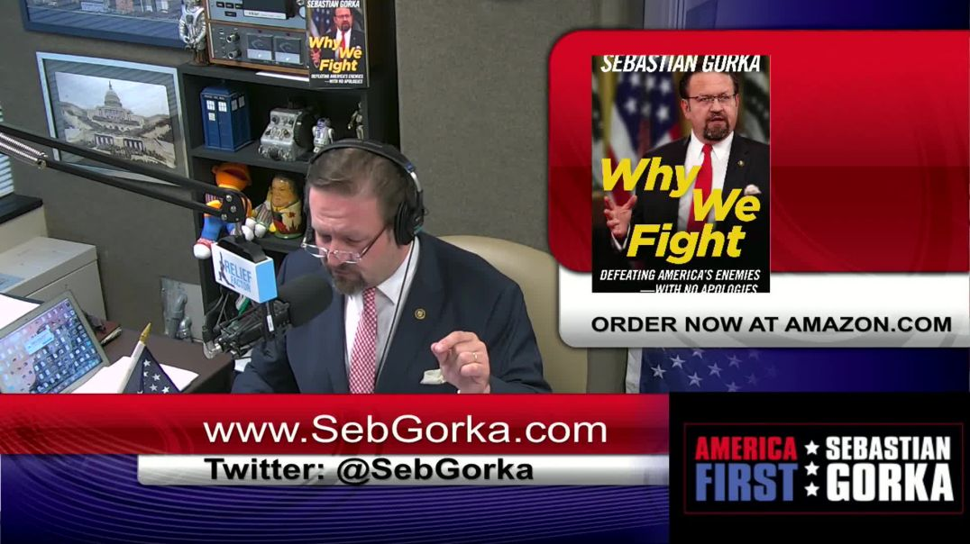 Sebastian Gorka answers why Bill Clinton was painted in a blue dress for Jeffrey Epstein