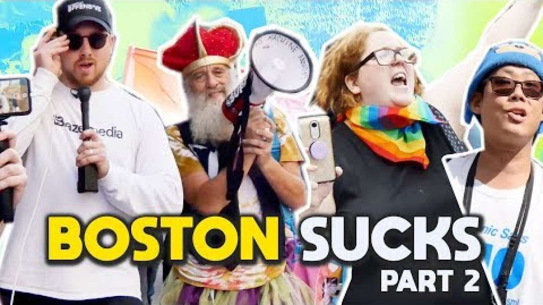 Boston SUCKS Chaos at the Straight Pride Parade - Part 2 I Slightly Offensive