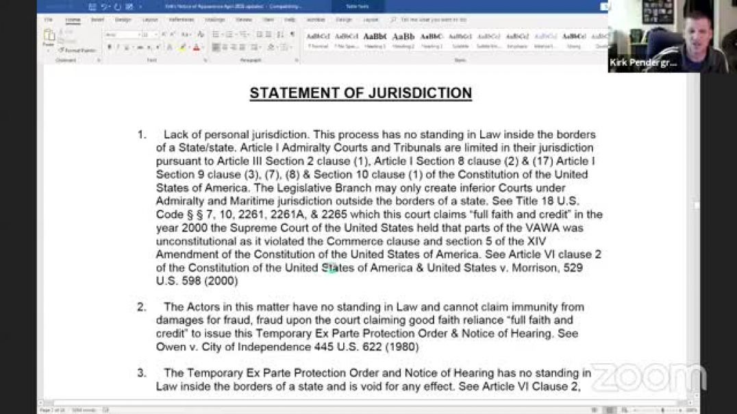 Educational Series Episode 2 of 8 - Status, Standing & Jurisdiction with how to write some basic