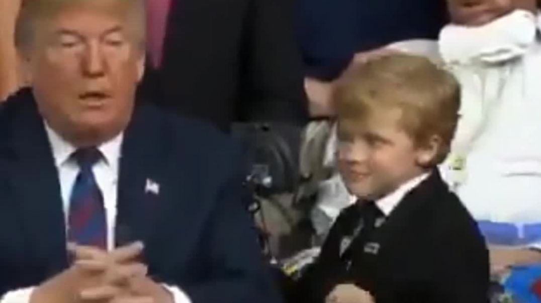 Trump Hugs Kid