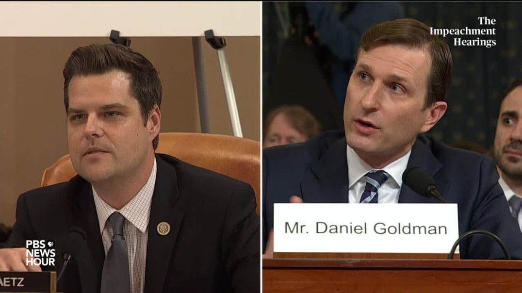 Rep. Matt Gaetz's full questioning of committee lawyers Trump impeachment hearings