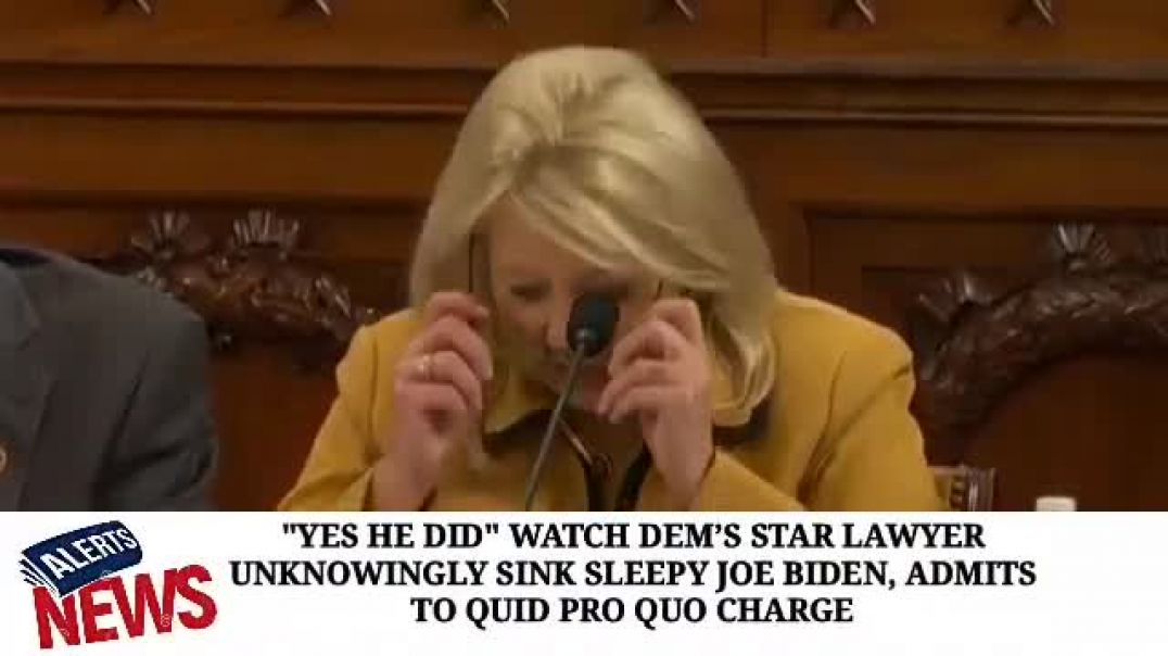 WATCH BRAVE WOMAN RIPS DEM'S IMPEACHMENT LAWYER AND ENTIRE DEM'S TO SHREDS!
