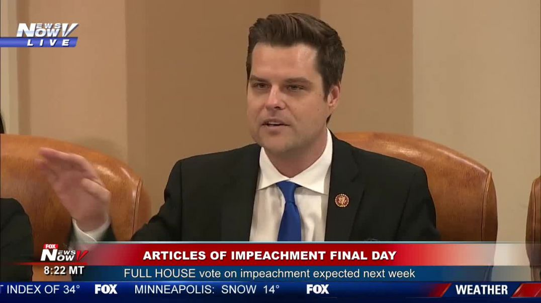 Rep. Gaetz: Trump Is the VICTIM Dems are the BULLY
