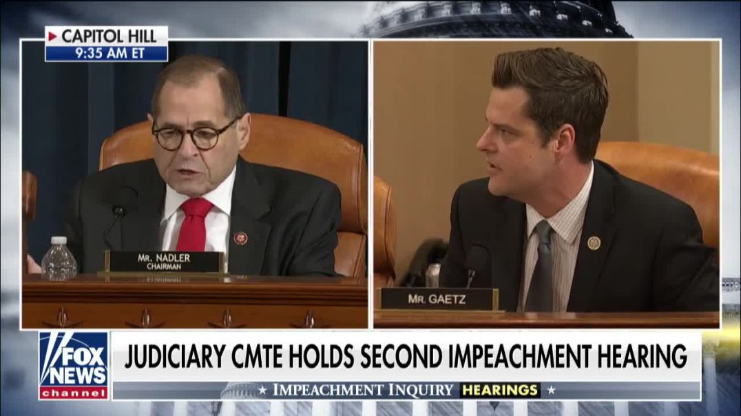 Impeachment tensions flare  Matt Gaetz goes after Nadler