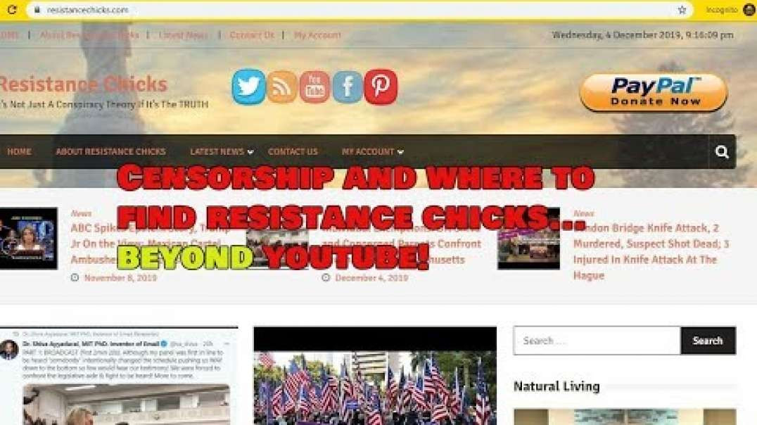 Censorship and Where to Find Resistance Chicks... Beyond Youtube!.mp4