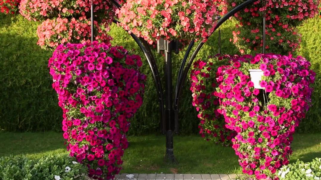 Hanging Flowers In Artistic Design