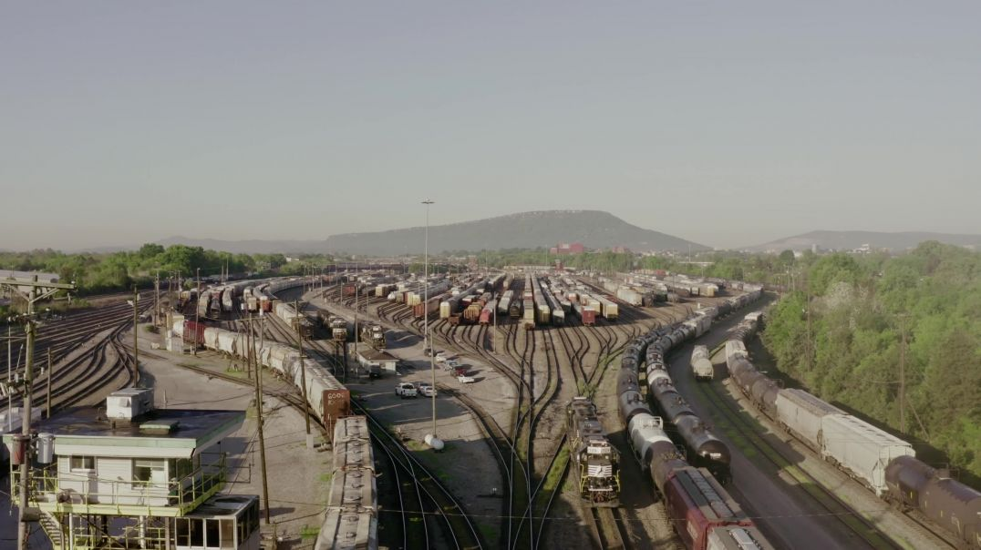 Drone View Railway Station